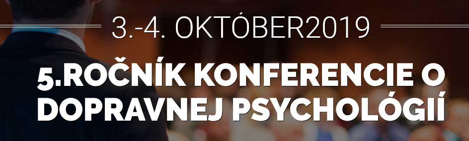 5. rocnik konferencie o dopravnej psychologii